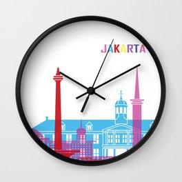 Jakarta skyline pop Wall Clock