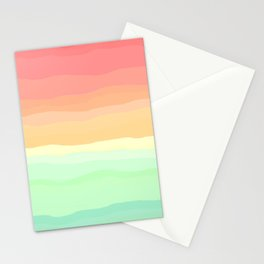 Ice Cream Pastel Rainbow Stationery Cards