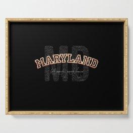 Maryland Vintage Retro Collegiate Serving Tray