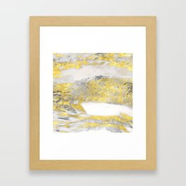 Silver and Gold Marble Design Framed Art Print