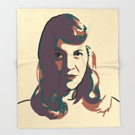 Sylvia Plath Throw Blanket