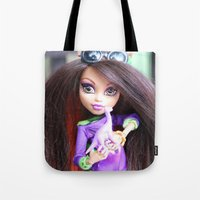 monster high Tote Bags featuring Monster High: Howleen Wolf custom from The Blank Flank by Amy McWilliams - The Blank Flank