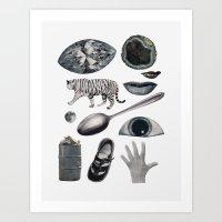 grey Art Prints featuring GREY by Beth Hoeckel