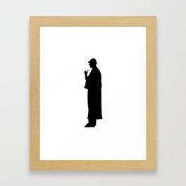 Sherlock Holmes Silhouette Framed Art Print