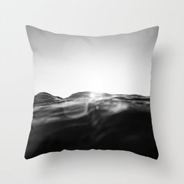 monochromatic sea swell at sunset Throw Pillow