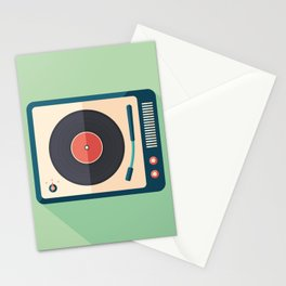 Vinyl Player Stationery Cards