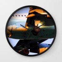 plane Wall Clocks featuring Plane by Luc Girouard