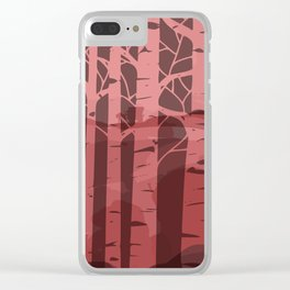 Sunset birch Clear iPhone Case