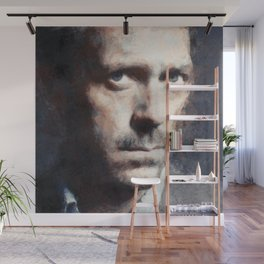 Hugh Laurie painting Wall Mural