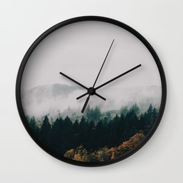 Forest Fog Wall Clock
