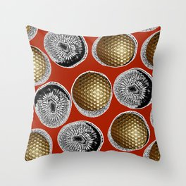 RED, WHITE & GOLD Throw Pillow