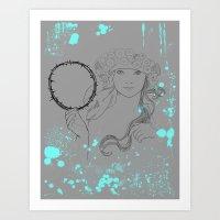 mucha Art Prints featuring A. Mucha by Daniel Cisneros