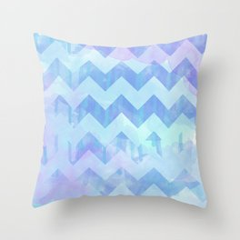 Watercolour Chevron {Spring 2015 Limited Edition} No. 2 Throw Pillow