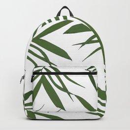 Greenwhite leaves decor Backpack