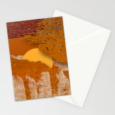 Behind the mountains Stationery Cards