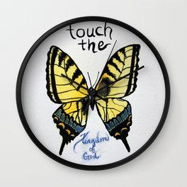 touch the kingdom tiger swallowtail butterfly Wall Clock