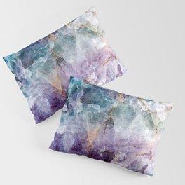 Turquoise & Purple Quartz Crystal Pillow Sham