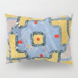 Golden Mandala Ornament (Premium Marble) Pillow Sham