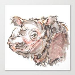 """Harapan """"Harry"""" the sumatran rhino Canvas Print"""