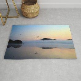 Enlightenment: Sunrise on Lake George Rug
