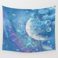 celestial Wall Tapestries featuring Celestial by Geni
