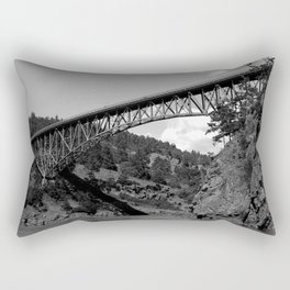Deception Pass, the Bridge to Whidbey Island Rectangular Pillow