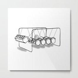 Newton's cradle Metal Print