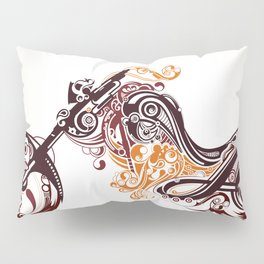 Abstract Motorcycle Pillow Sham