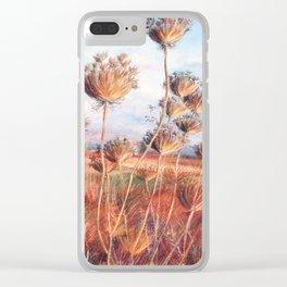 Queen Anne's lace_pastel art Clear iPhone Case