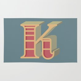 Alphabet Drop Caps Series- K Rug