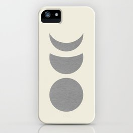Lunar Phase - Gray iPhone Case
