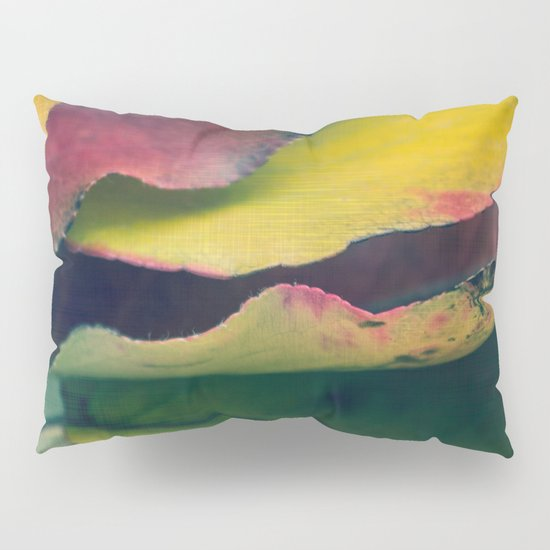 Fall Leaves II - Yellow, Lime Green, Red Purple Pillow Sham