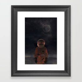 marooned astronaut Framed Art Print