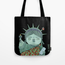 Liberty Owl  Black Tote Bag