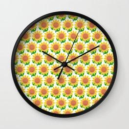 Sunflower Pattern_I Wall Clock