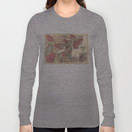 Vintage Map of Boston Massachusetts (1871) Long Sleeve T-shirt