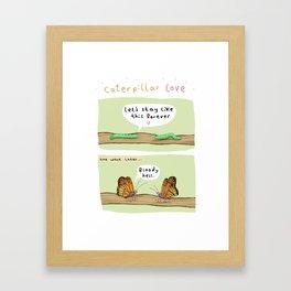 Caterpillar Love Framed Art Print
