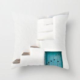 Minimalist Greek Architecture, Sifnos island Throw Pillow