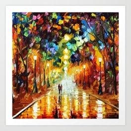 Romantic Starry Night Art Print