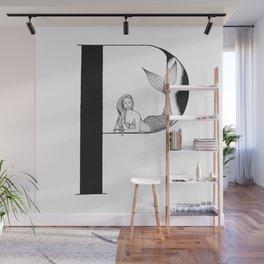 Mermaid Alphabet Series - P Wall Mural