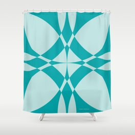 Abstract Circles - Ocean Shower Curtain