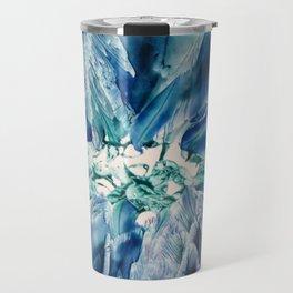 Aquamarine Geode Travel Mug