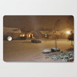 Coastal Winter Snow Storm Cutting Board