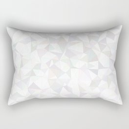 White triangle mosaic Rectangular Pillow