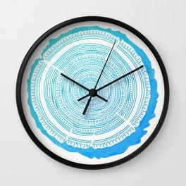 Douglas Fir – Blue Ombré Wall Clock