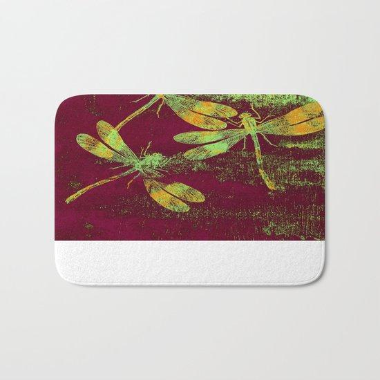 Mauritius Vintage Dragonflies QRF Bath Mat
