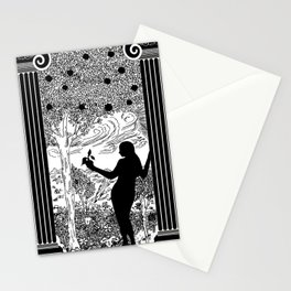 Antique Greek Columns Eve in the Garden Stationery Cards