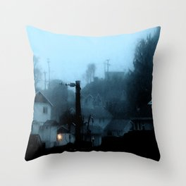 Strange Night: Ghost Light Throw Pillow
