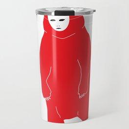 Red Bear Mask Travel Mug