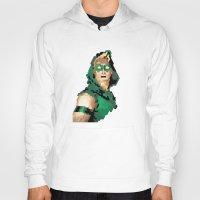 green arrow Hoodies featuring Green Arrow by Andrew Markovits